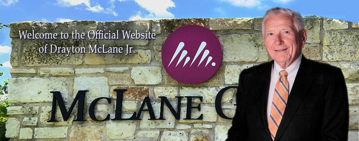 Welcome to the website of Drayton McClane Jr.